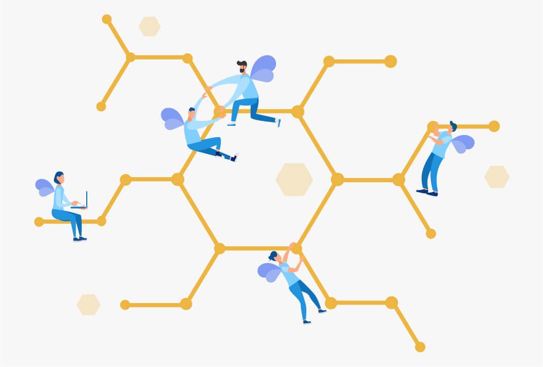 Alveari digitali e persone connesse tra loro